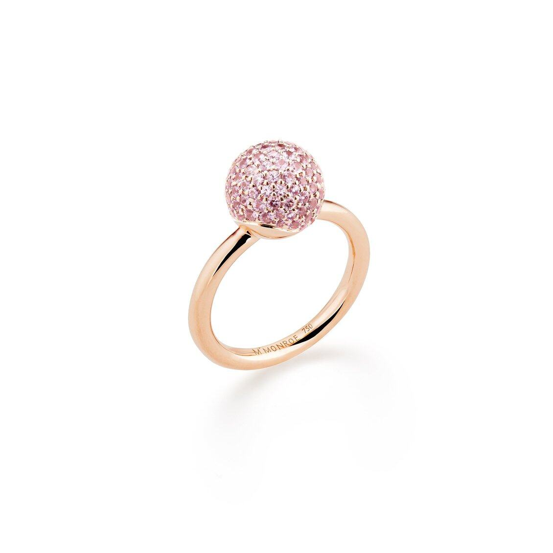 AURA Small Pavé Sphere Ring