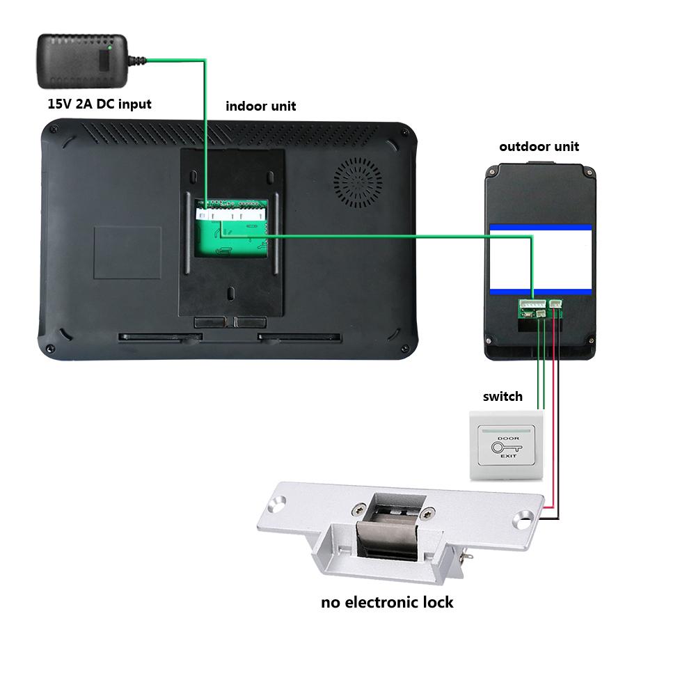 9 Inch 2 Monitors Wired Wireless Wifi Fingerprint Video
