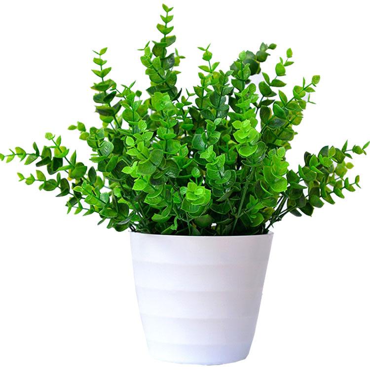 eucalyptus grass plastic artificial plants 7branch 30cm home decoration plant