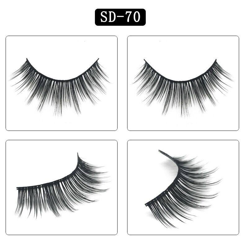 3Pairs False Eyelashes Hand Made 3D Mink Lashes Luxury Full Strip Lashes Extension