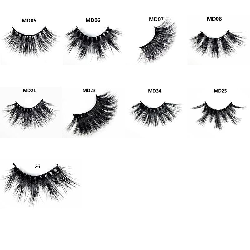 5d Mink Eyelashes Thick HandMade Full Strip Lashes Free Luxury Makeup Dramatic Lashes