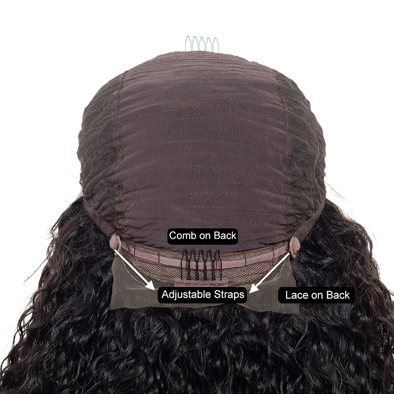 Deep Parting Curly Hair Premier Lace Wigs Wet And Wavy Lace Front Short Bob Wigs