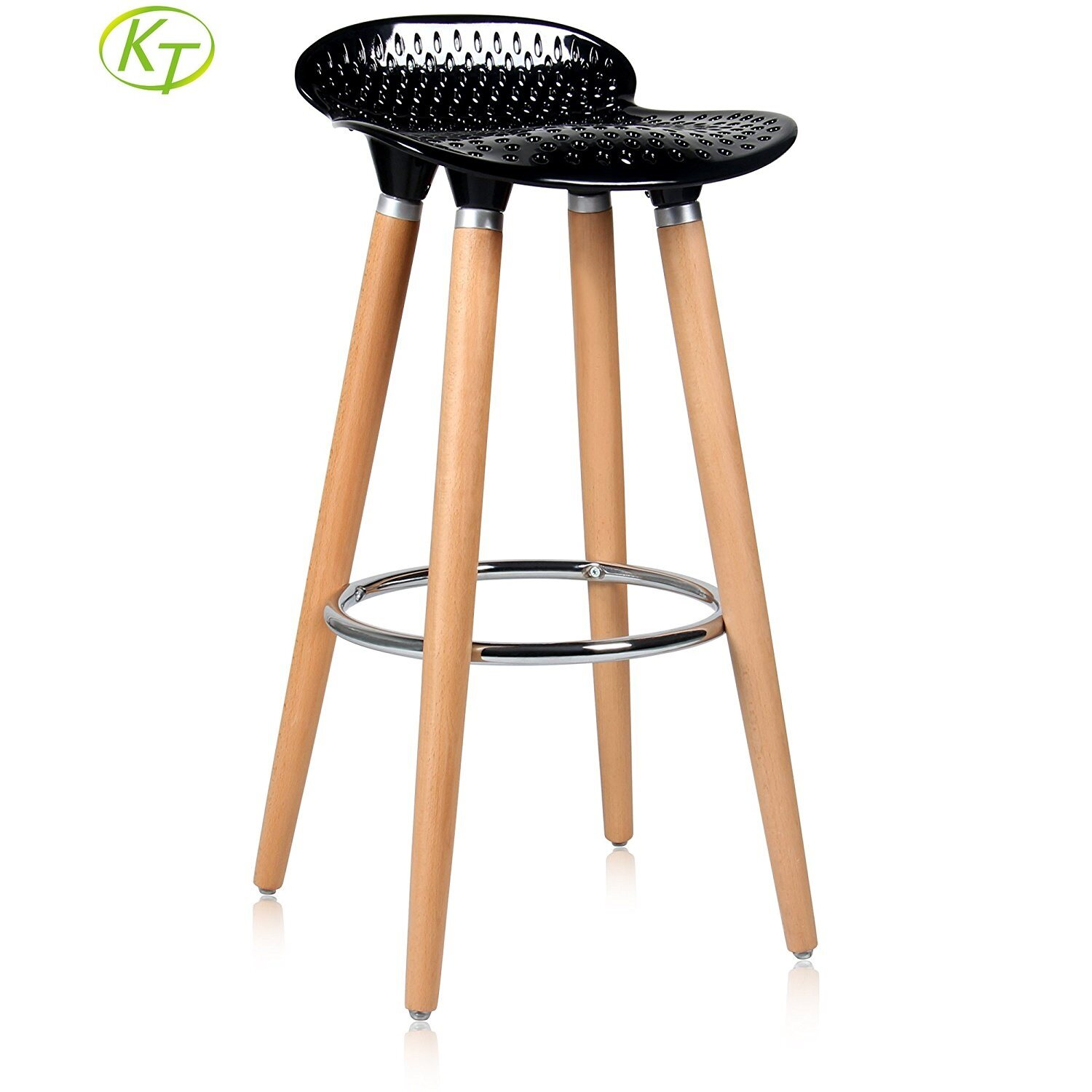 Wooden Backless Bar Stools Black Bar Chairs KT-3105