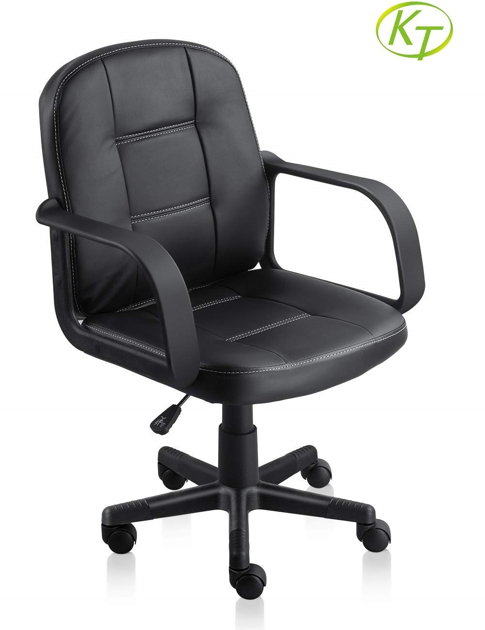Black Swivel Bar Stools With Backs Heavy Duty Office Chairs KT-OC6178