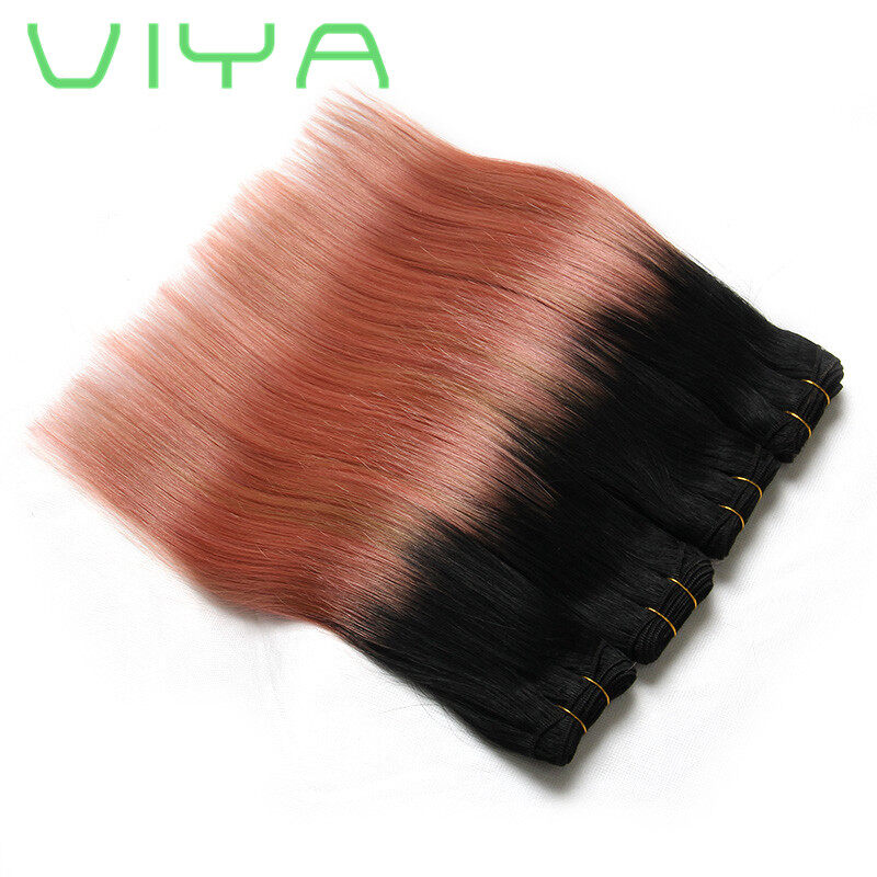 Viya hair ombre brazilian straight hair weave extensions rose gold fast free shipping by dhl 3 5 days to arrive pmusecretfo Choice Image