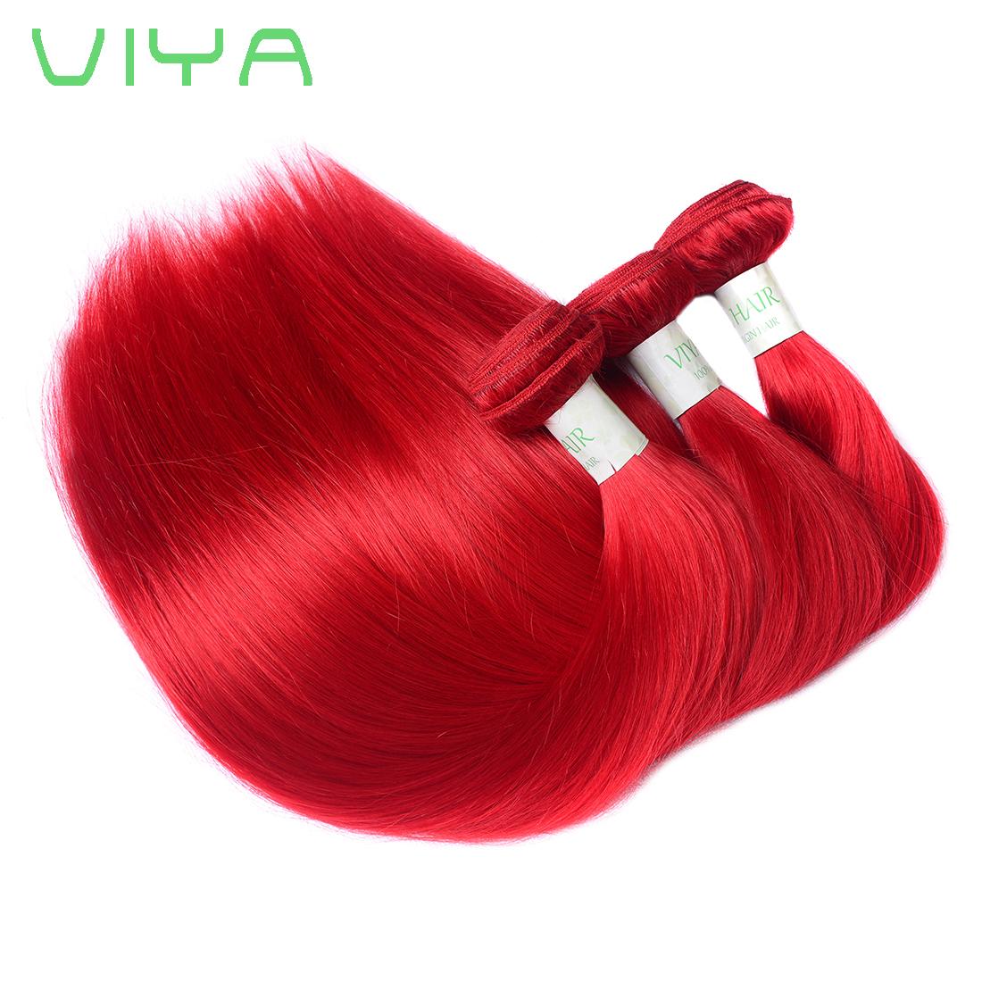 Viya hair products Peruvian Virgin hair Straight hair RED 3 Bundles ...