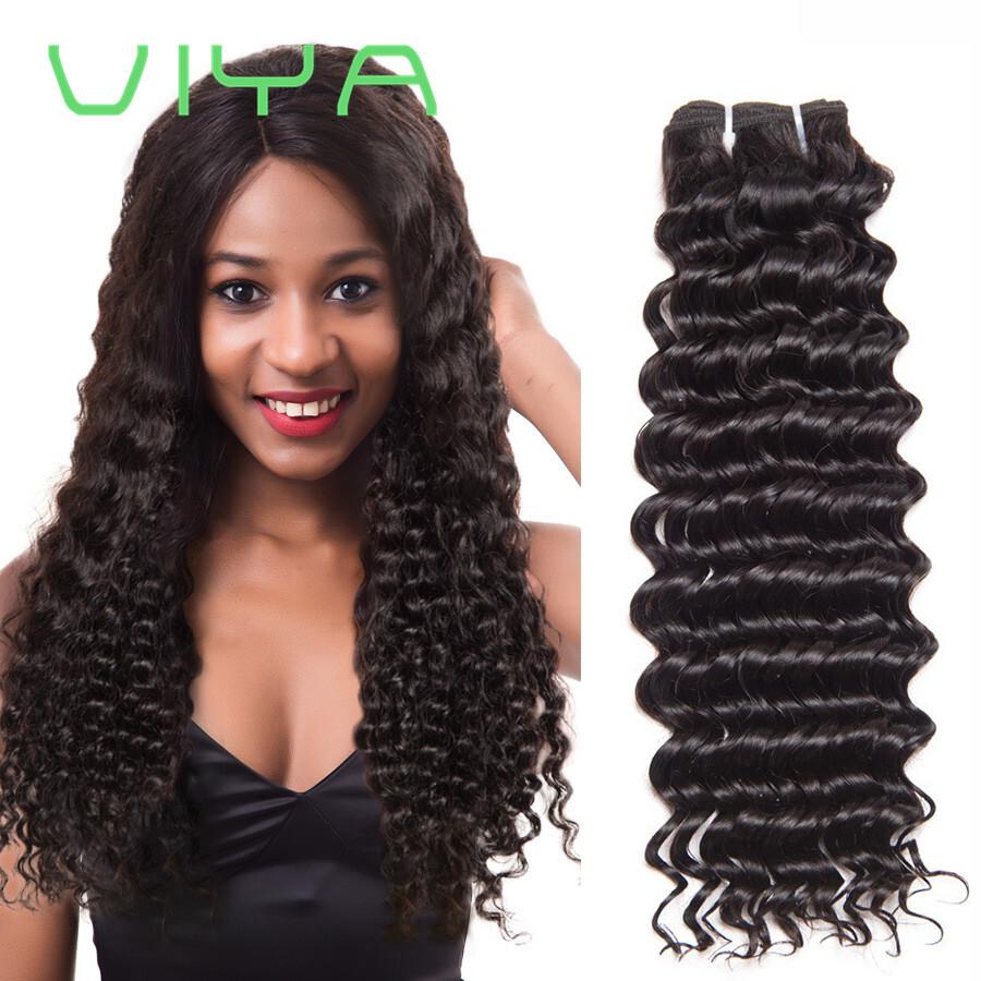 Deep Wave Brazilian Hair Weave Bundles 100 Human Hair Extensions
