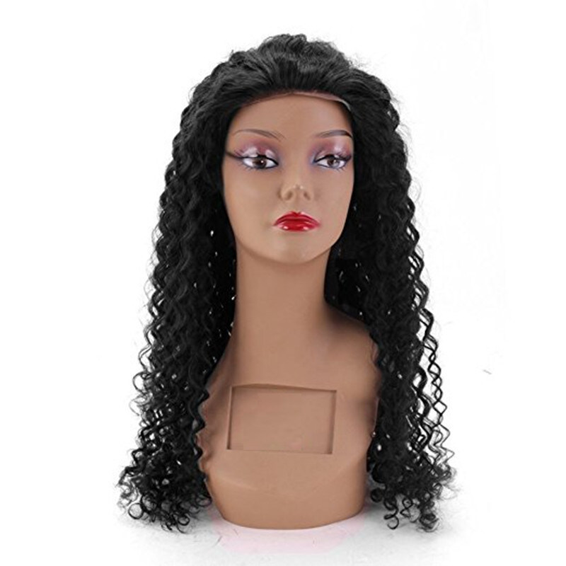 Brazilian Virgin Hair Kinky Curly Wig 130 Density 100 Human Hair