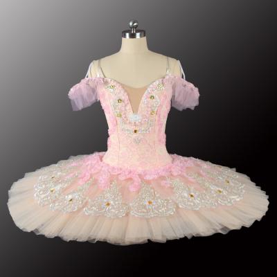 Free Shipping Pink Peach Fairy YAGP Competiton Professional Ballet Tutu Costumes BT9128B