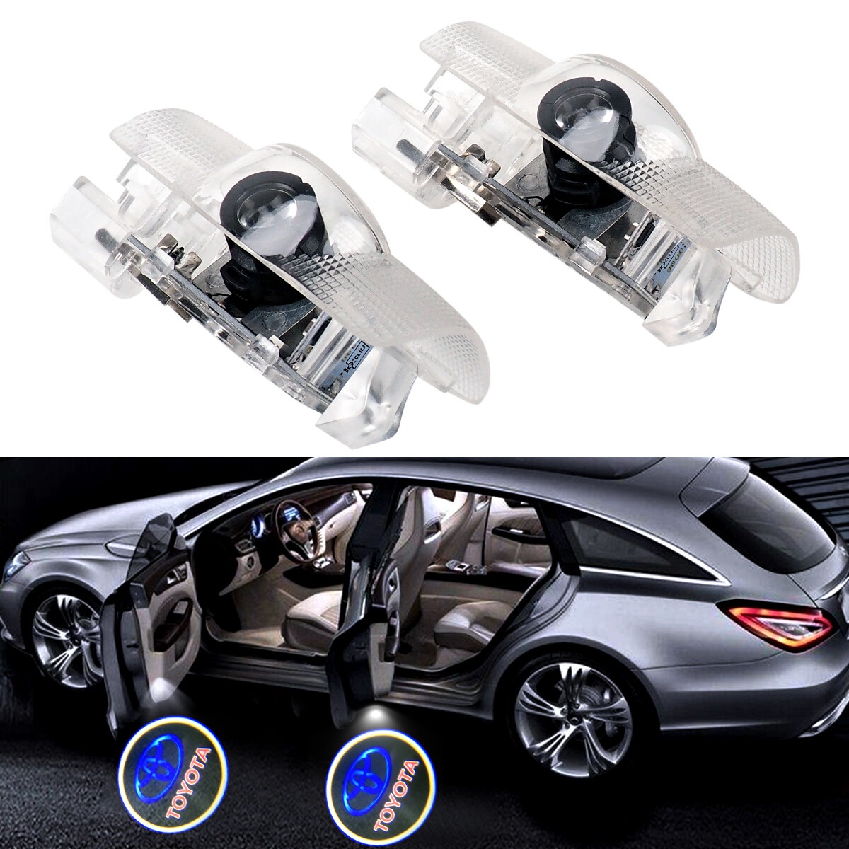 Car Door Lights-2Pcs Welcome Light Projector Lamp Ghost Shadow Led Logo Light