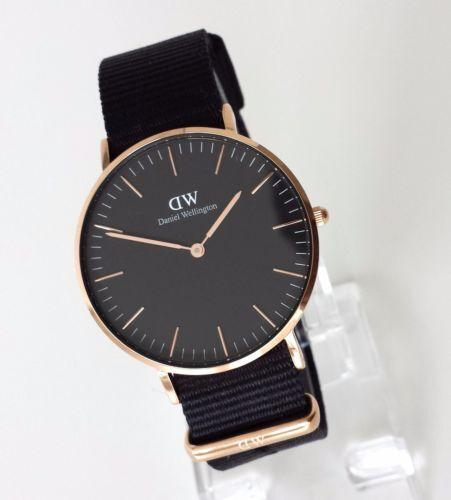 daniel wellington classic black cornwall damen uhr schwarz dw watch. Black Bedroom Furniture Sets. Home Design Ideas