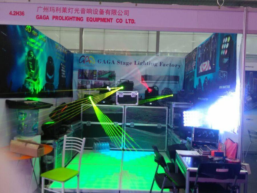 GAGA Light attend 2015 Prolight + sound exhibition in Guangzhou