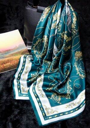 Fashion style hand rolled hem silk scarf 90x90