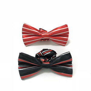 Fashion New design polyester Custom logo bow tie