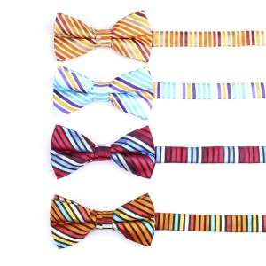 Fashion New design polyester Stripe Bow Tie