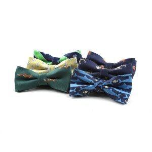 Jacquard polyester customized little animal pattern bow tie