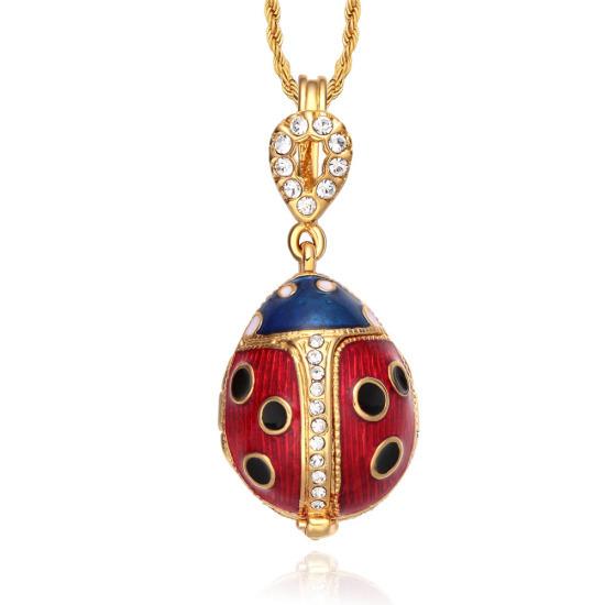 Tf charms ladybug pendant charm necklace 18 inches locket design tf charms ladybug pendant charm necklace 18 inches locket design with flower charm inside red aloadofball Images
