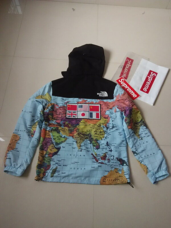 5116f728 ... sale supreme x the north face jacket 3m flag map jacket windbreaker  reflecting coat 77ba6 caaca