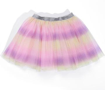 Fashion Baby Girl Rainbow Tutu Skirt Infant Toddler Ruffles Elastic Waist Tulle Skirt
