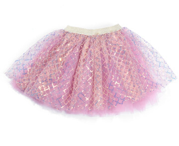 New Arrival Baby Girl Sequins Lattice Tutu Skirt Infant Toddler Ruffles Elastic Waist Tulle Skirt