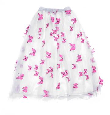 New Design Women Long Tutu Skirt Girl's Butterfly Collage Sequin Lattice Rainbow Sparkle Star Long Tulle Skirt