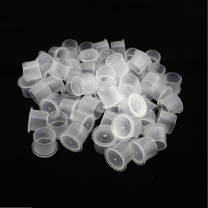 Newest Top Hat Style Tattoo Ink Cups White Plastic Disposable Ink Caps For  Tattoo Ink