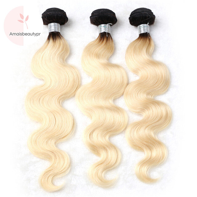 Amais Single Bundle 1b 613 Body Wave Ombre Weave With