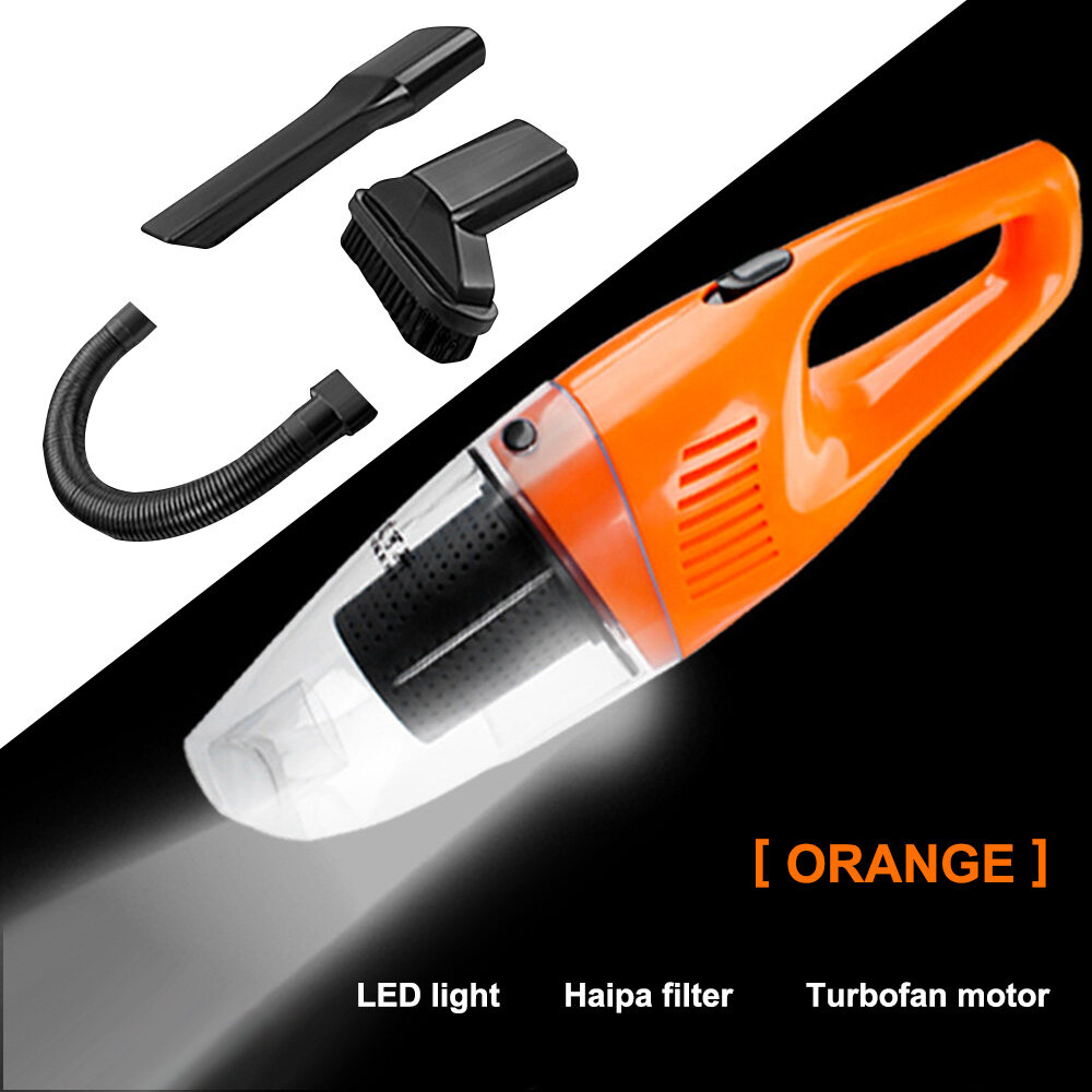Car Vacuum, 12V 120W Portable Handheld Auto Vacuum Cleaner For Car With  High Power, LED Light, 16.4 FT(5M) Power Cord