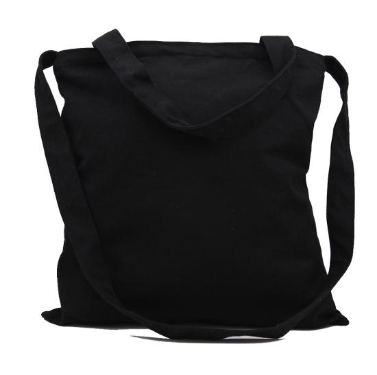 Lg0036 Custom Black Cotton Canvas Tote Bag