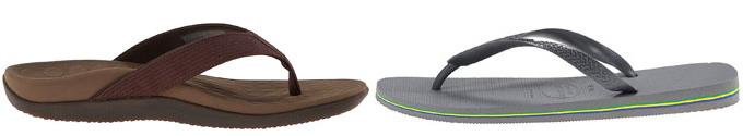Flip-flops or slip-on sandals