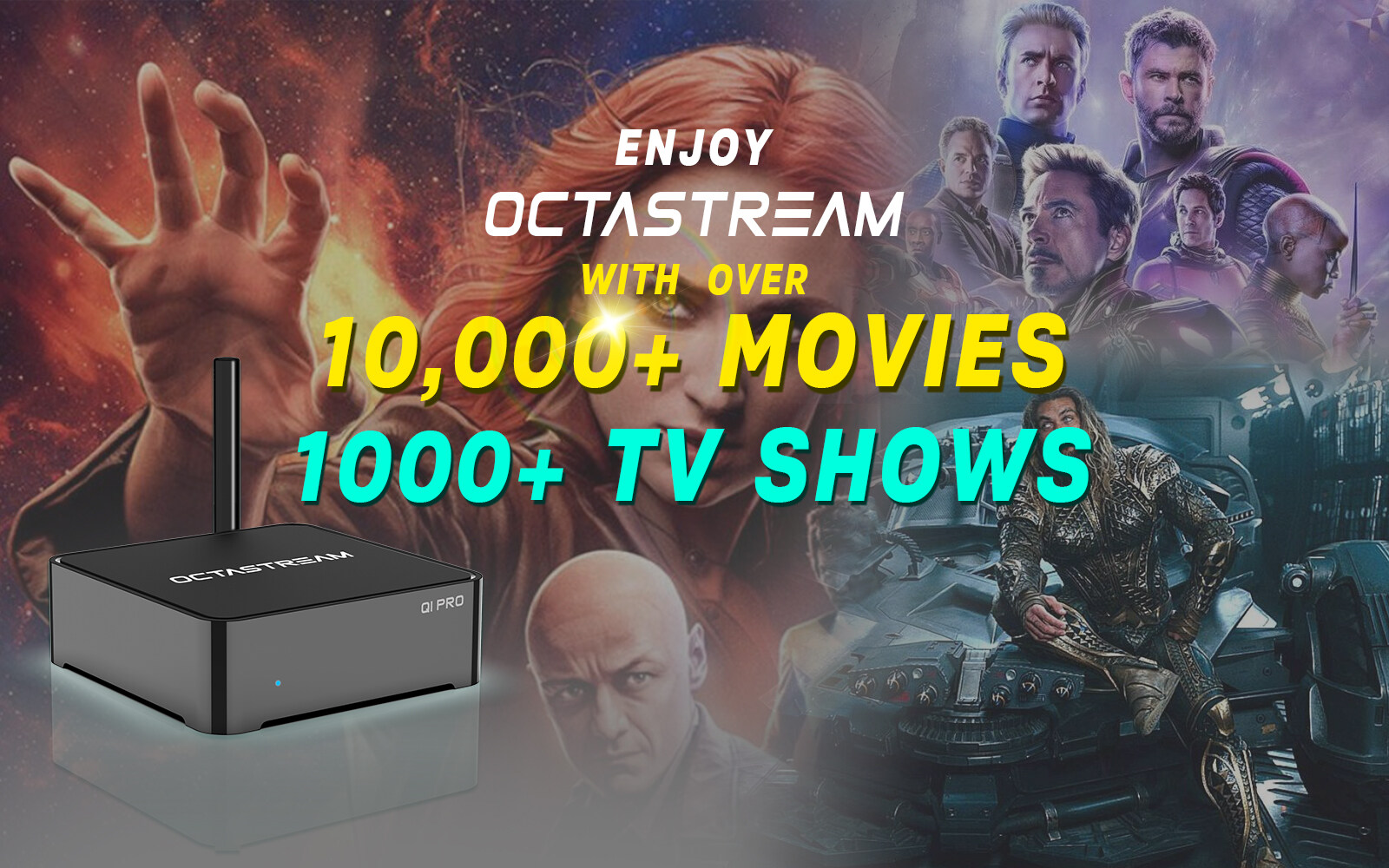 Unlimited service iptv streaming tv box Octastream Q1 pro ...
