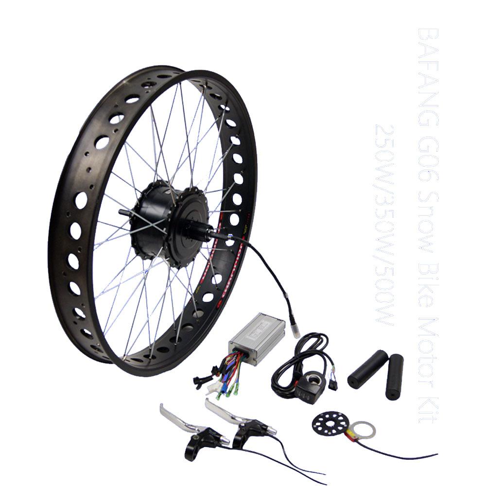 Fat Tire Electric Motor Kit: 48v 500w Fat Tire Bafang G06 Snow Bike Motor Electric Bike