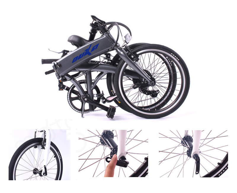 17kg with battery 20 inch spoke motor wheel folding electric bicycle
