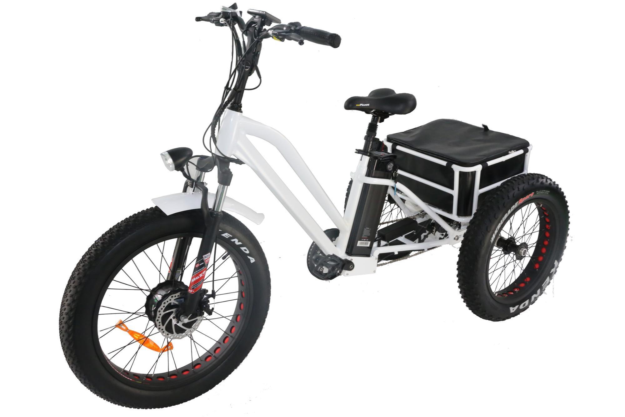 pedal assist 3 three wheel fat tire electric cargo. Black Bedroom Furniture Sets. Home Design Ideas