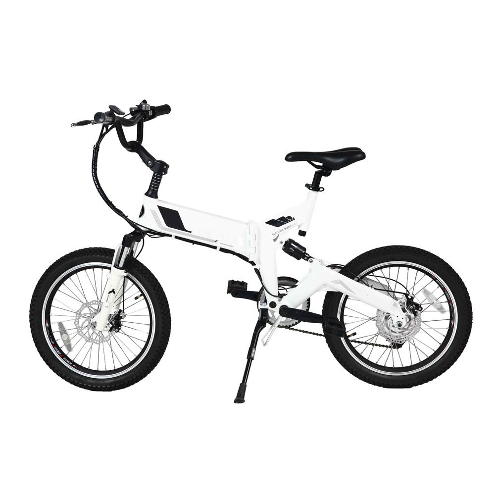 20 inch full suspension frame spoke wheel folding electric bike