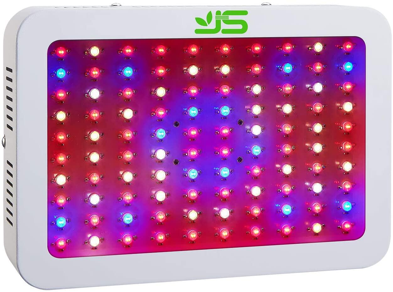 JS LED Grow Light, 600W mit Veg/Bloom Dimmen, Vollspektrum LED Grow Light Pflanzenlicht mit Daisy-Chain Funktion Wachstumslampe Pflanzenleuchte für Gemüse,Blumen und Gewächshaus Pflanze… JS LED Grow Light, LED Pflanze wachsen Licht auf smart-join.com LED Grow Light