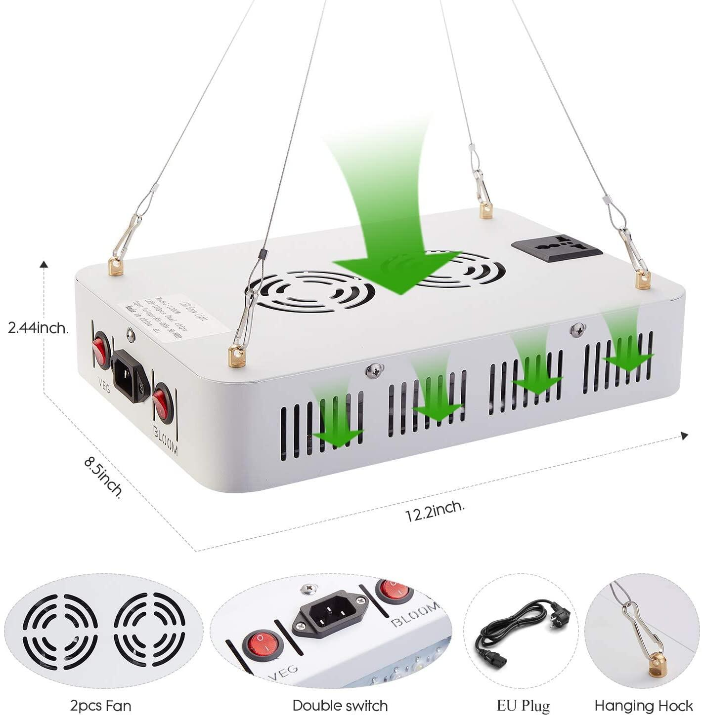 JS LED Grow Light, 600Watt Double Chips Full Spectrum Plant Lamp with Bloom and Veg Light for Indoor Grow Box Greenhouse Plant Vegetable Flower Growth …JS LED Grow Light, Full Spectrum Plant Grow Light at smart-join.comLED Grow Light