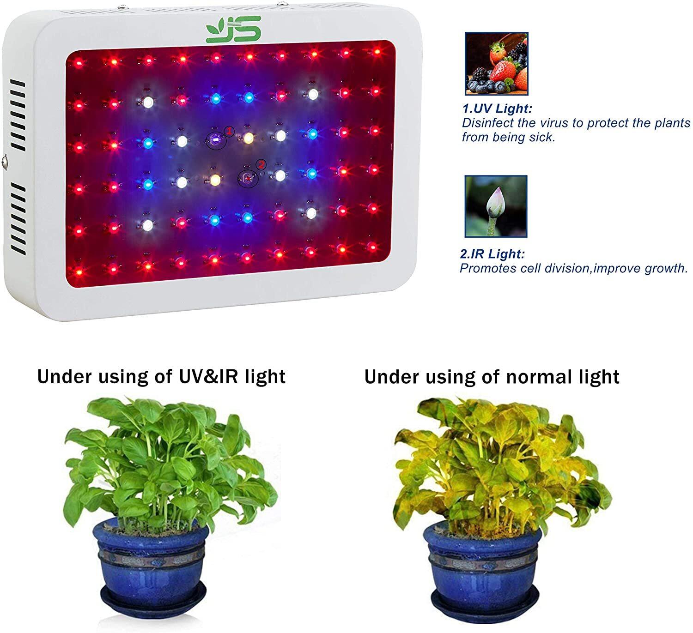 JS LED Grow Light, 600W Vollspektrum LED Pflanzenlampe, Pflanzenlicht Wachstumslampe Pflanzenleuchte für Zimmerpflanzen,Gemüse,Blumen und Gewächshaus Pflanze…JS LED Grow Light, LED-Pflanze wachsen Licht auf smart-join.comLED Grow Light