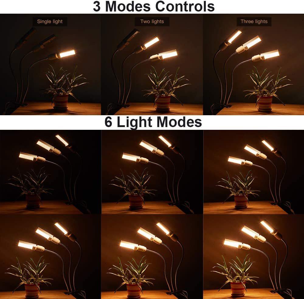 JS LED Grow Light, Pflanzenlicht 60W Vollspektrum Grow Lampe Pflanzenleuchte, 132 LEDs mit Timing Einschaltfunktion Wachstumslampe,6 Arten von Helligkeit,USB Adapter, für Garten ZimmerpflanzenJS LED Grow Lampe, Vollspektrum Pflanzen Grow Lampe at smart-join.comLED Grow Lampe