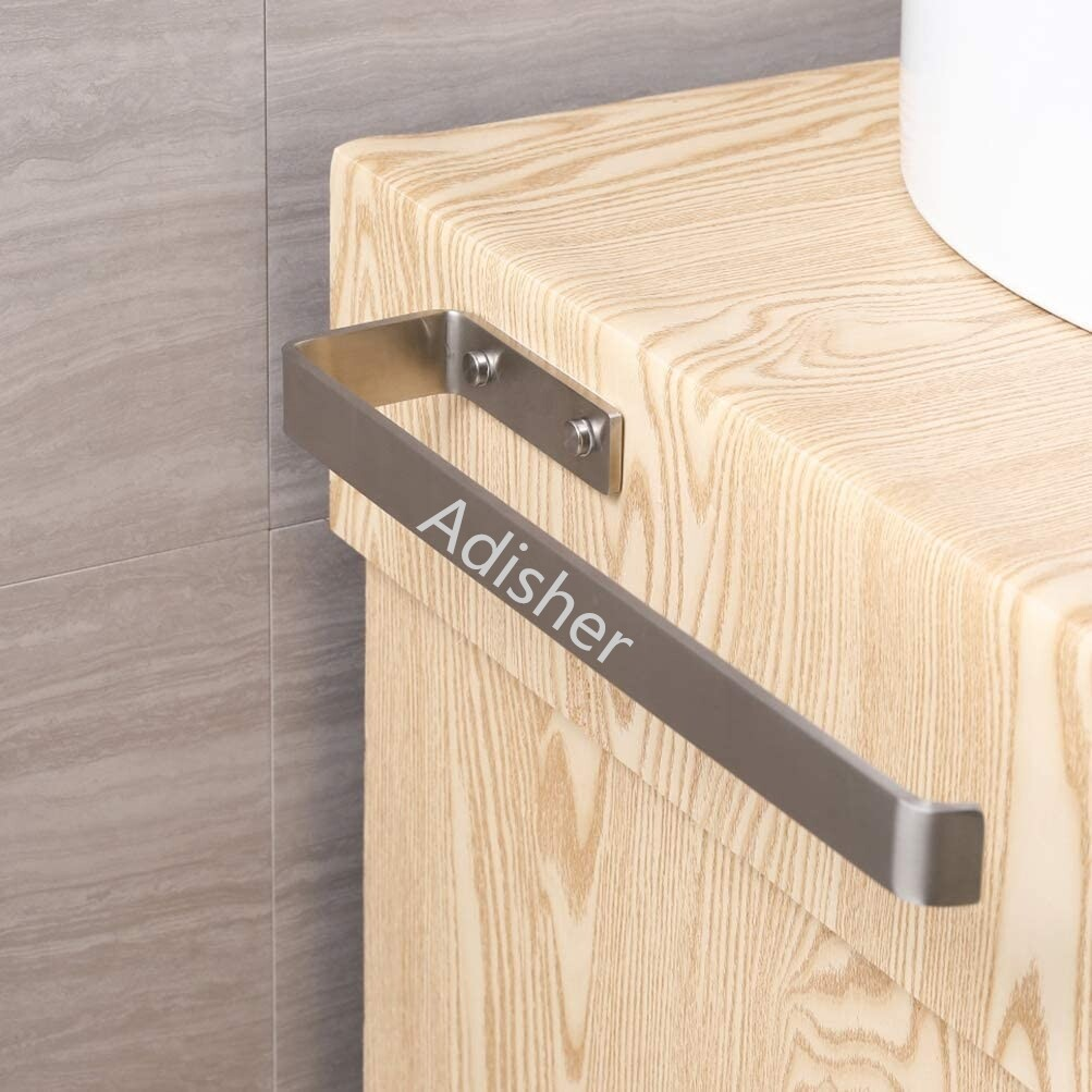Adisher Towel holder, towel bar stainless steel brushed wall mount and cabinet mounting for bathroom and kitchen, 38 cm, stainless steel self-adhesive towel holder Adisher Towel holder, towel bar stainless steel brushed wall mount and cabinet mounting for bathroom and kitchen, 38 cm, stainless steel self-adhesive towel holder Towel holder