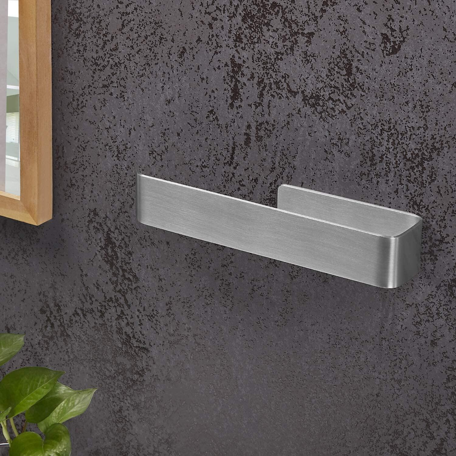 Towel holder without drilling, Stainless steel towel holders Self-adhesive towel holder Bathroom Gluing instead of drilling Elegant chrome Consists of stainless steel for shower towels, bathrooms and kitchens. Never drill again Towel holder without drilling Stainless steel towel holders Self-adhesive towel holder Bathroom Gluing instead of drilling Elegant chrome Consists of stainless steel for shower towels, bathrooms and kitchens. Never drill again towel holder