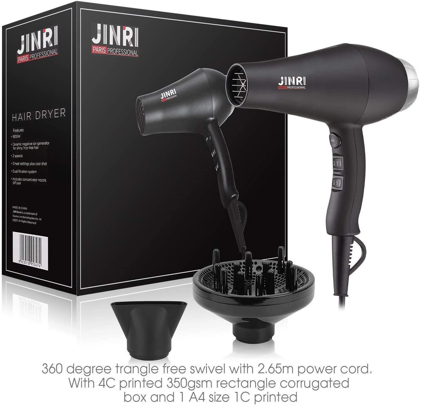 Hair dryer with diffuser for curls, Test winner with negative ions Hair dryer 3 heating and 2 separate blower levels / cooling level 1800W hairdryer with diffuser for curls, design styling nozzles, 2 attachments - black Hair dryer with diffuser for curls Test winner with negative ions Hair dryer 3 heating and 2 separate blower levels / cooling level 1800W hairdryer with diffuser for curls, design styling nozzles, 2 attachments - black Hair Dryer