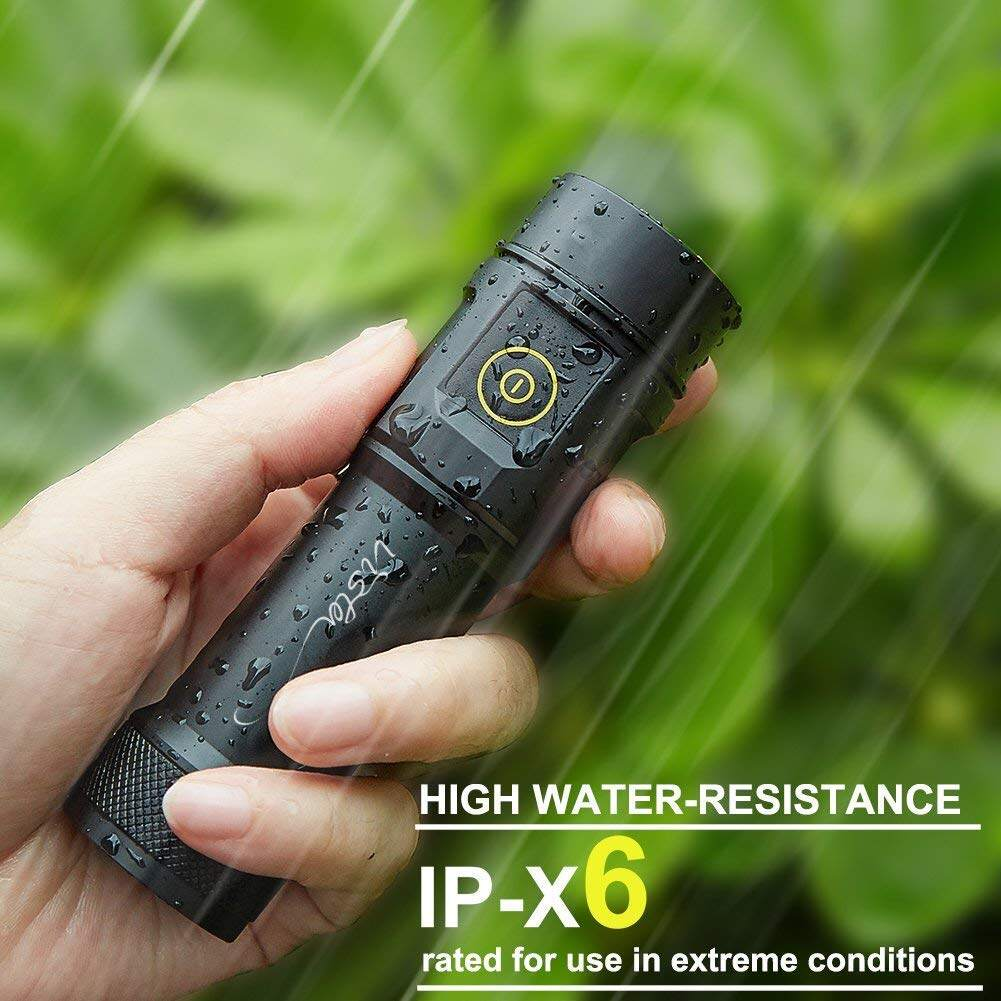 【Coming soon】Vista Taschenlampe, USB 1000 Lumen Cree LED 26650 IPX6 Outdoor Camping Hiking LED Taschenlampe Extrem Hell【Coming soon】Vista Taschenlampe USB 1000 Lumen Cree LED 26650 IPX6 Outdoor Camping Hiking LED Taschenlampe Extrem HellLED Torch