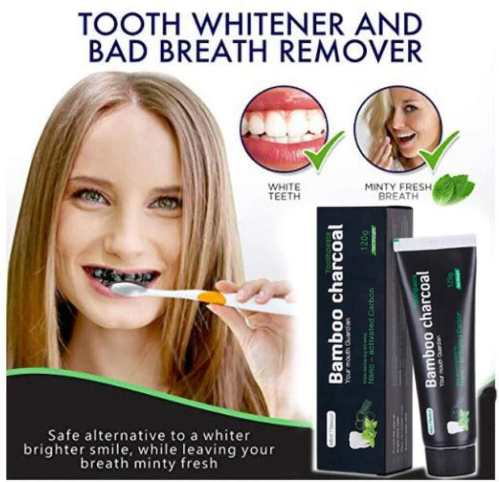 【New】Vista Toothpaste Activated Charcoal, White Teeth Bamboo Teeth Whitening Toothpaste Fresh Breath Activated Charcoal 【coming soon】 Activated Charcoal Toothpaste White Teeth Bamboo Teeth Whitening ToothpasteFresh Breath Activated Charcoal Toothpaste