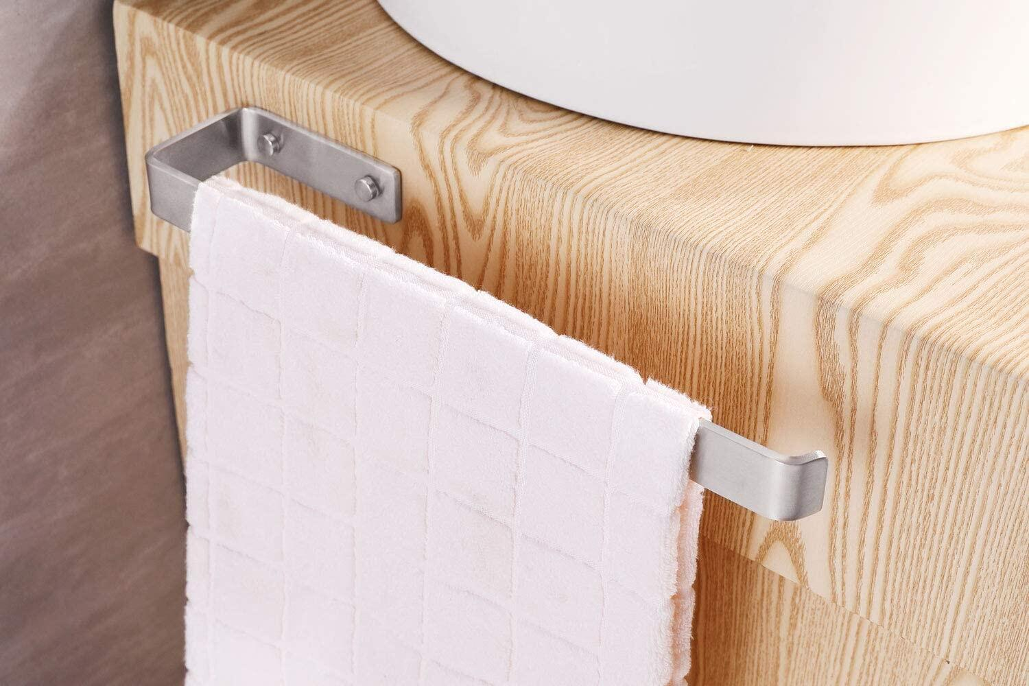 Towel Holder, brushed stainless steel, wall-mounted towel rail bathroom and kitchen, brushed cabinet mounting 40 cmTowel holder brushed stainless steel, wall-mounted towel rail bathroom and kitchen, brushed cabinet mounting 40 cmTowel Holder