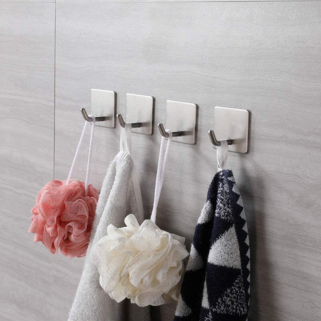 Self Adhesive Hooks (6 pieces), stainless steel wall hooks self-adhesive adhesive hooks bathroom and towel rail kitchen waterproof for kitchen bathroomHooks self-adhesive (6 pieces) without drilling stainless steel wall hooks self-adhesive adhesive hooks bathroom and towel rail kitchen waterproof for kitchen bathroomSelf-adhesive Hooks