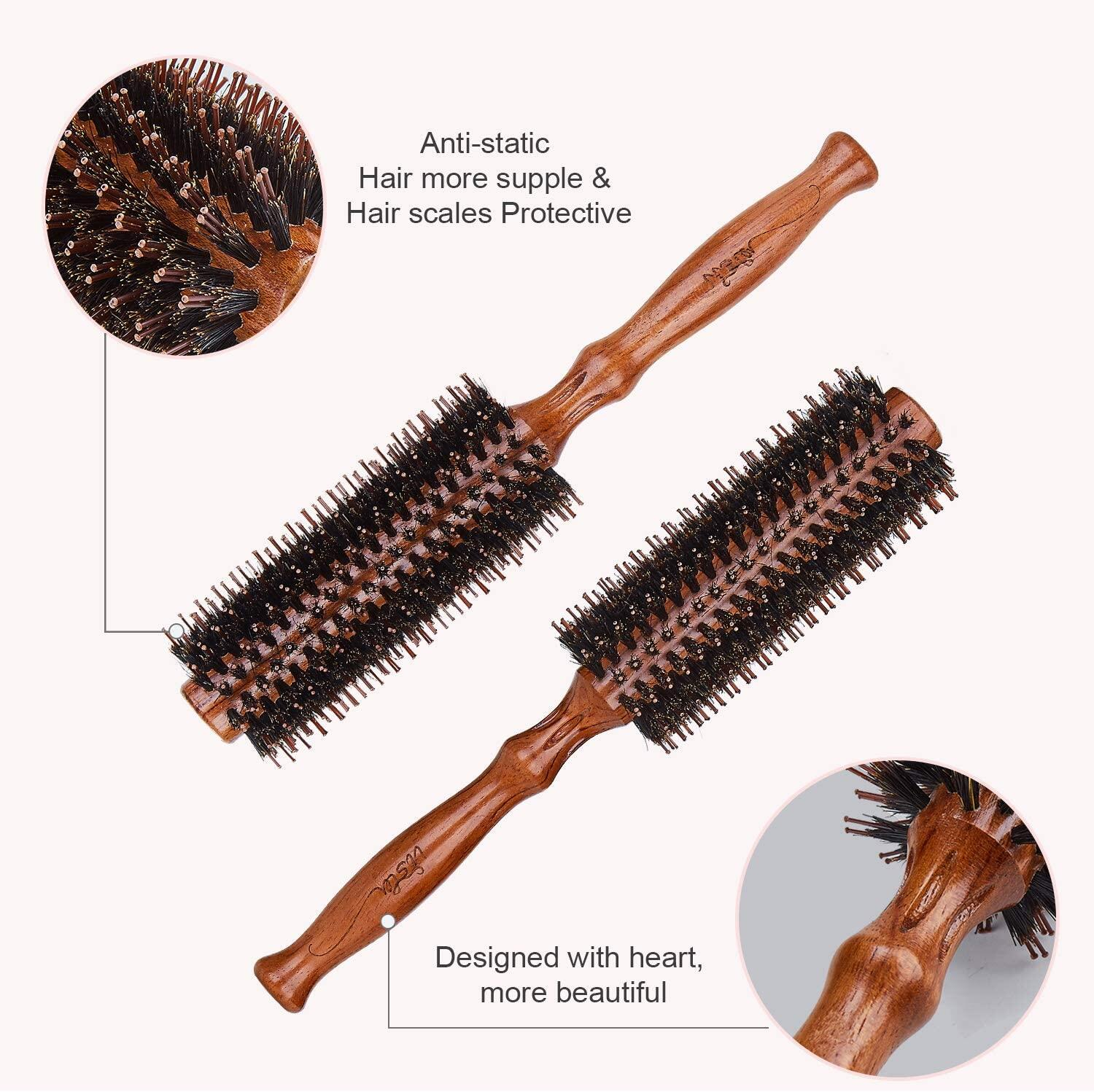 Vista Hair Brush Round 1 Piece, Boar Bristle Hairbrush For Men Anti Static Hair Care Perfect Size Detangle Hair Brush(twill) Vista Hair Brush Round 1 Piece Boar Bristle Hairbrush For Men Anti Static Hair Care Perfect Size Detangle Hair Brush(twill) hair brush