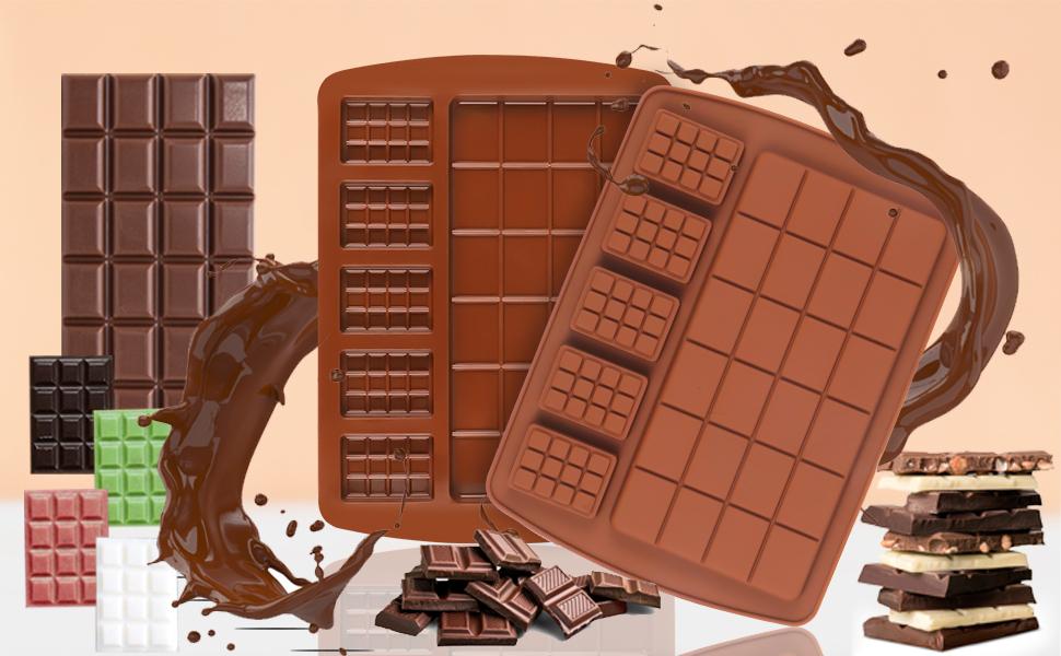Palksky  2 IN 1 Chocolate bar mold