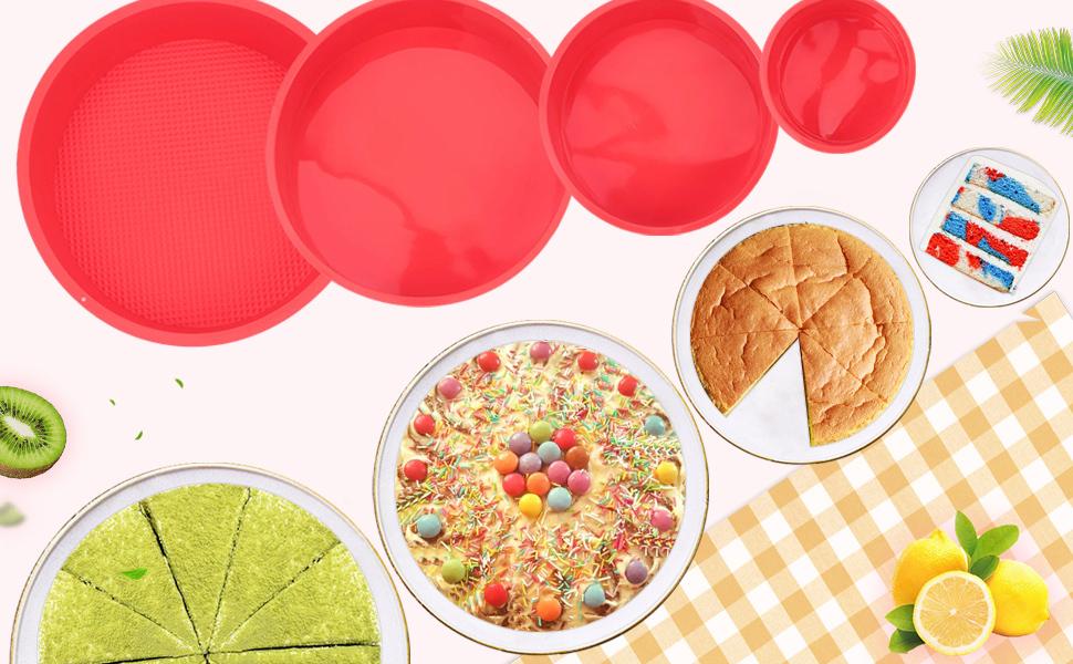 4pc Round Cake Pan