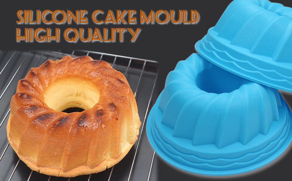 Swirl Silicone Fluted Cake Pans